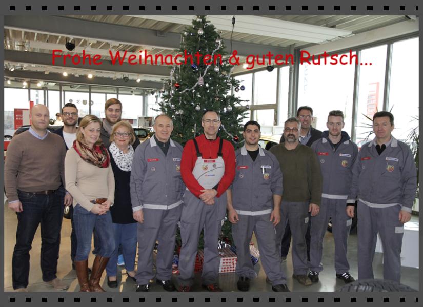 Ihr Autohaus Pietsch-Team aus Walldorf wünscht Ihnen frohe Weihnachten & einen guten Rutsch ins neue Jahr 2015!
