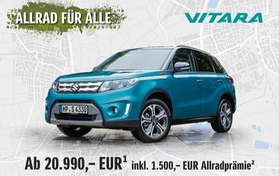 Suzuki Pietsch, Walldorf: Angebot - Die Suzuki Vorteilskollektion - Der stylische Mini-SUV Vitara ab nur 99,- EUR im Monat!