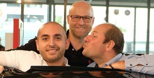 Ihr Verkaufsteam im Autohaus Pietsch: Andreas Pietsch, Patrik Mayr (mi.) und Sebastian Koch (re.)